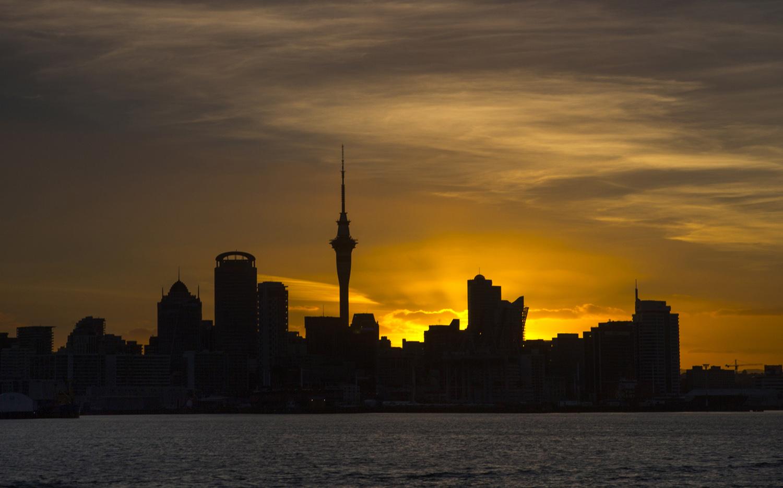 Auckland Skyline by night New Zealand (c) Bart Coolen