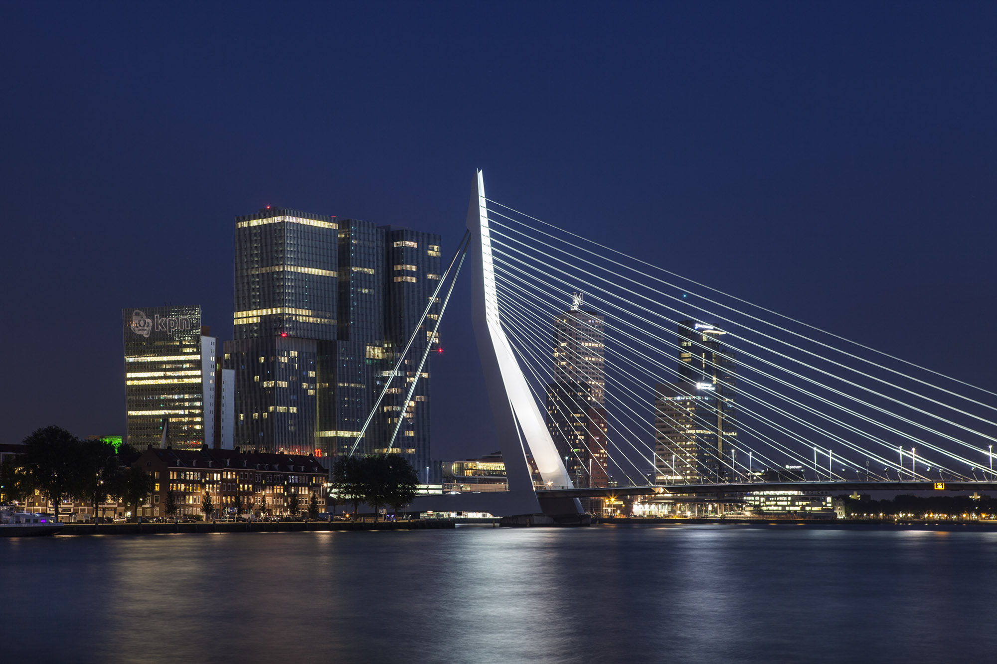 Rotterdam Erasmusbridge (erasmusbrug over de maas river) (c) Bart Coolen